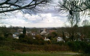 Looking down on London town from Hampstead Heath
