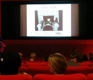 Waiting for Sarah Pucill's film to start at Tate Modern