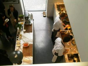 Chefs at work on Electrolux's expensive kitchen aplliances