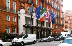 Claridges Hotel with flags a flying