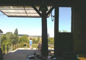 Looking out from the converted barn at Les Soeurs Anglaises