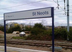 St Neots station and building works