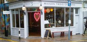The recently opened Trois Garcons cafe and shop in Redchurch Street,  E2
