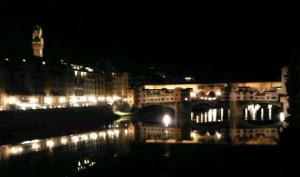 The Rialto Bridge from outside out hotel in Florence