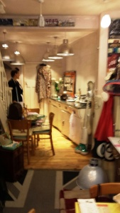 Tania watches nervously as we wreck her shop for our Kitchenalia shoot